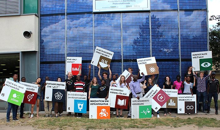 UNESCO-Projektschule Gruppenbild Sustainable Development Goals