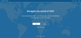 Screenshot der Webseite OER World Map