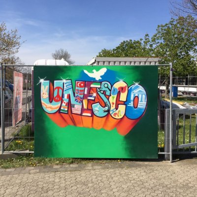Schul-UNESCO-Graffiti