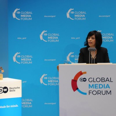 DW GMF Anabel Hernandez bekommt den Freedom of Speech Award